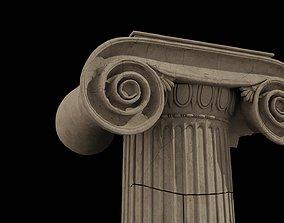 3D model Ionic capital ruins