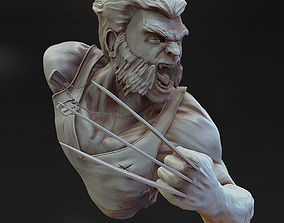 3D printable model Wolverine bust