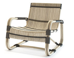 cane Cane-Line Curve Lounge Chair 3D model
