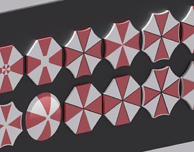 3D model Umbrella Corporation Logo