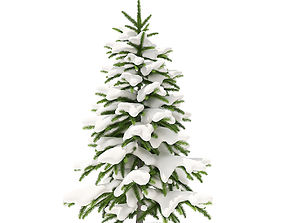 Fir Tree with Snow 1point2m 3D
