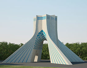 3D model Azadi Tower