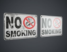 3D model Plastic No Smoking Sign PBR Game Ready