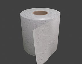 3D asset Toilet Paper Low Poly Game Ready