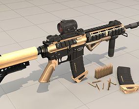 low-poly Rifle model AR15