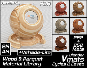 VMATS Wood and Parquet Material Library for 3D asset 2