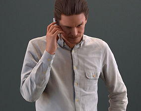 european man in casual clothing standing making 3D model 2