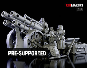 Quattro Cannon - Artillery of the 3D printable model 1
