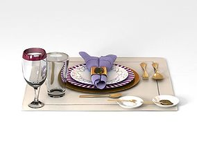 Dinnerware Table Set 3D