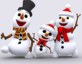 3DRT-Crazy dancing snowmen animated