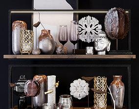 3D model Decorative Shelf set HPDecor Natural