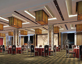 Business Restaurant - Coffee - Banquet 190 3D