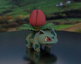 Pokemon Ivysaur with base 3D print model