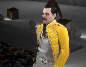 VR / AR ready 3d model of Freddie Mercury singer