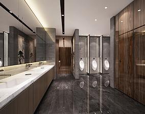 3D Modern office washroom