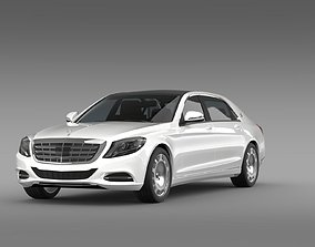 3D model Mercedes Maybach S400 X222 2015
