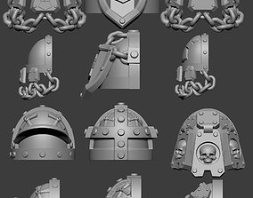 Imperial Fists Shoulder Pads 3D