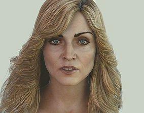 VR / AR ready Madonna singer head photorealistic female 3d