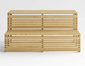 3D model bench for sauna