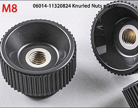 3D nuts M8 06014-11320824 Raendelschrauben Knurled model