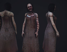 3D asset animated Super creepy female horror enemy AAA