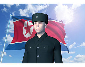 3D DPR Korea Soldier No rank