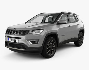 3D model Jeep Compass Limited with HQ interior 2016