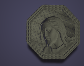 Jesus Christ in a octagon with texture 3d printable model