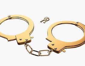 3D Golden handcuffs