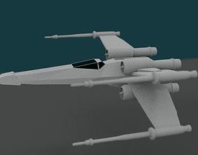 T-65 X-Wing Fighter Star Wars 3D asset