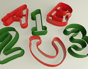 Cookie cutter set numbers and letters 3D print model