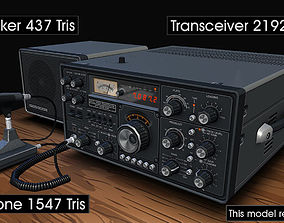 3D model Ham Radio Transceiver
