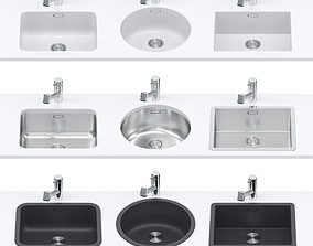Custom sinks set 3D model