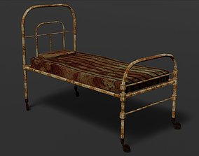 Terror old hospital bed 3D asset VR / AR ready