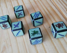 3D printable model 16mm Samurai battle dice