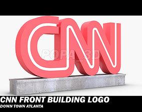 3D model CNN Front Logo Building