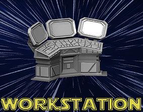 Workstation 3D print model