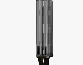 Art Deco Style Nickeled And Glass Wall Sconce 3D model