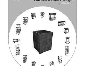 3D asset Furniture Constructisicions Design Collection - 1