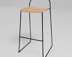 3D model AFI - Stackable sled base high stool -