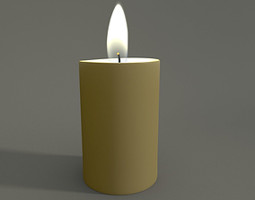 3D model Animated Hurricane Candle
