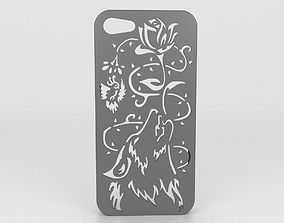 Howling Wolf Iphone 5 5s 3D print model