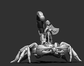 Scorpion rider 35mm scale - 61mm height 3D printable model