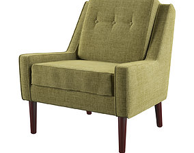 Linen Blend Rudy Upholstered Armchair 3D model