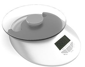 Digital kitchen scale 3D model