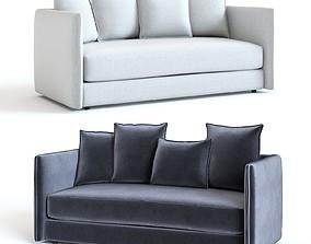 3D model West Elm - Modern Chesterfield Sofa