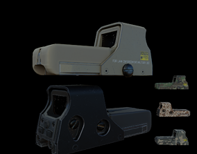 3D model Holographic Sight
