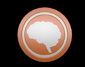 Low poly brain symbol 3 3D model