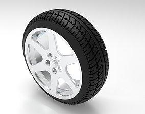 3D model tire and rim