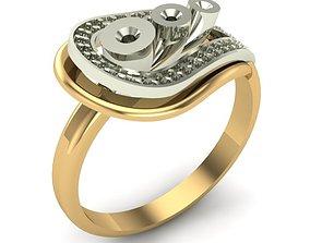 rings 3D print model WOMAN RING
